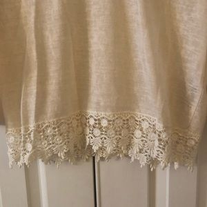 Forever 21 Tops - Crochet Trim 3/4 Sleeve Top